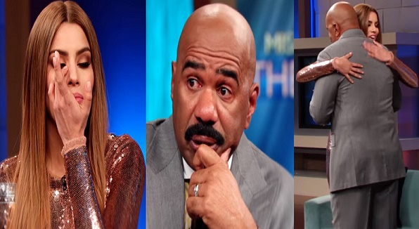 Miss Colombia and Steve Harvey Cry During Interview January 19 2016