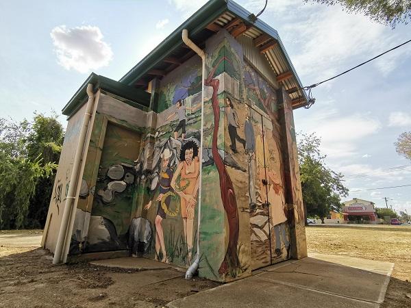 Street art in Wagga Wagga by Simon White