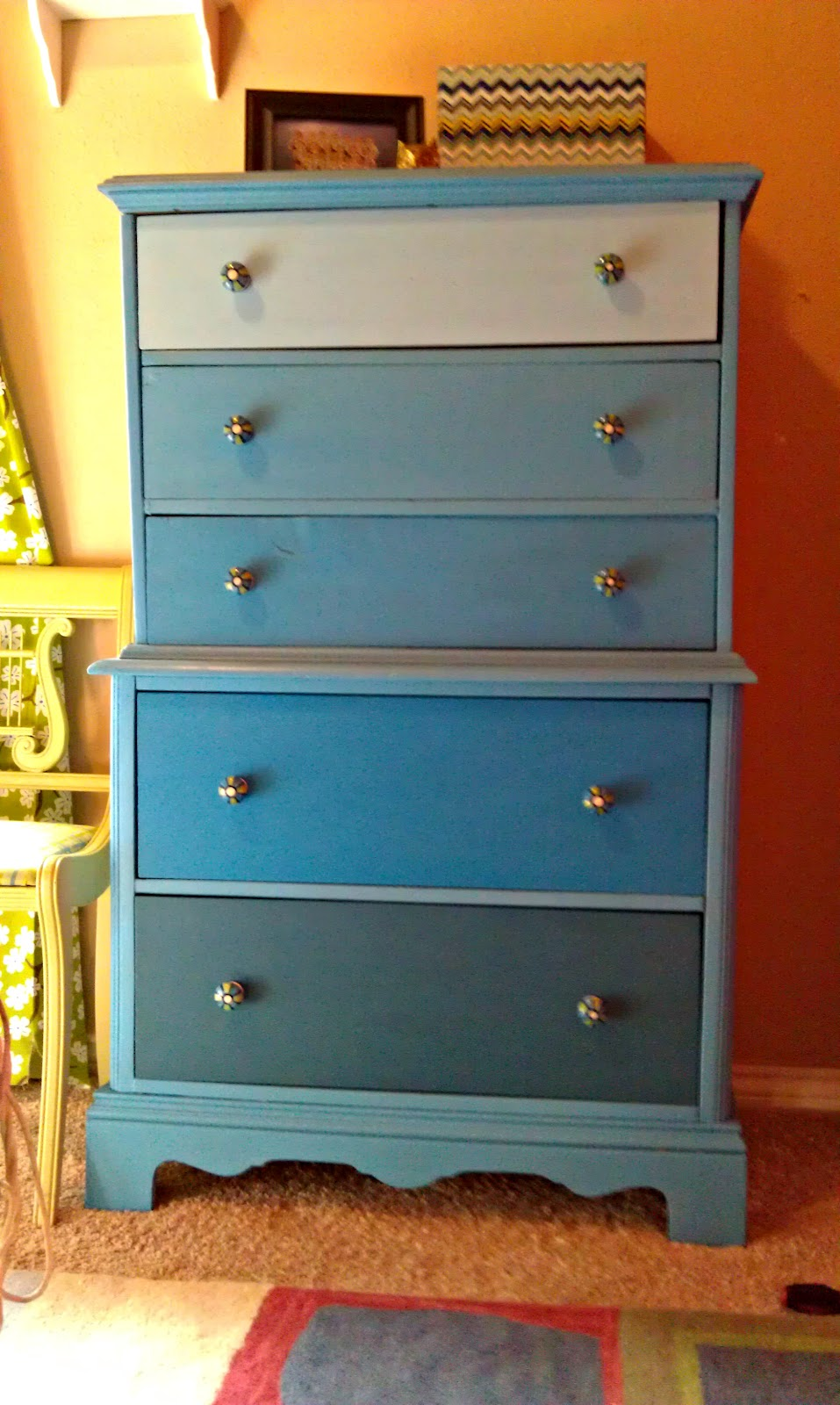 Ombre Painted Dresser