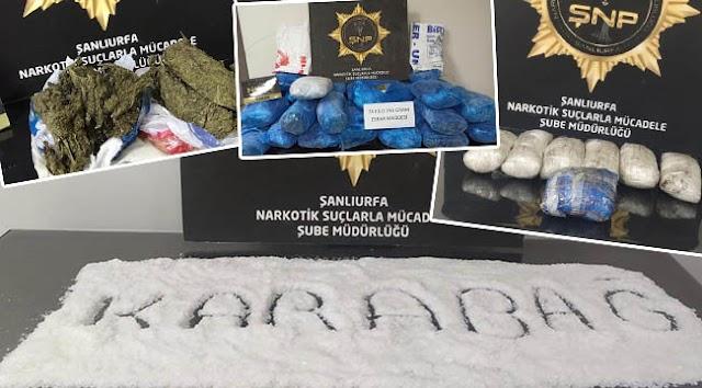 Urfa'da uyuşturucu operasyonu: 16 tutuklama