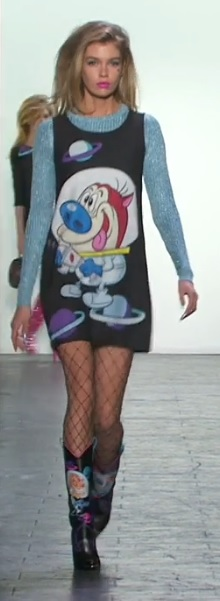 Jeremy Scott Ren and Stimpy NYFW