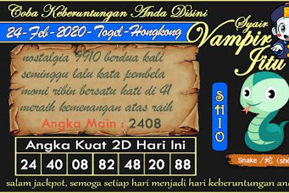 Syair Vampir Jitu Togel Hongkong Senin 24 Februari 2020