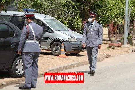 أخبار المغرب: الدرك الملكي بخريبكة يسجّل 700 مخالفة بشأن الكمامات