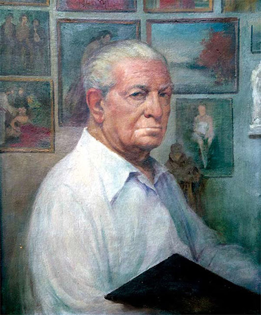 Filiberto Montagud, Self Portrait, Portraits of Painters, Fine arts, Portraits of painters blog, Paintings of Filiberto Montagud, Painter Filiberto Montagud