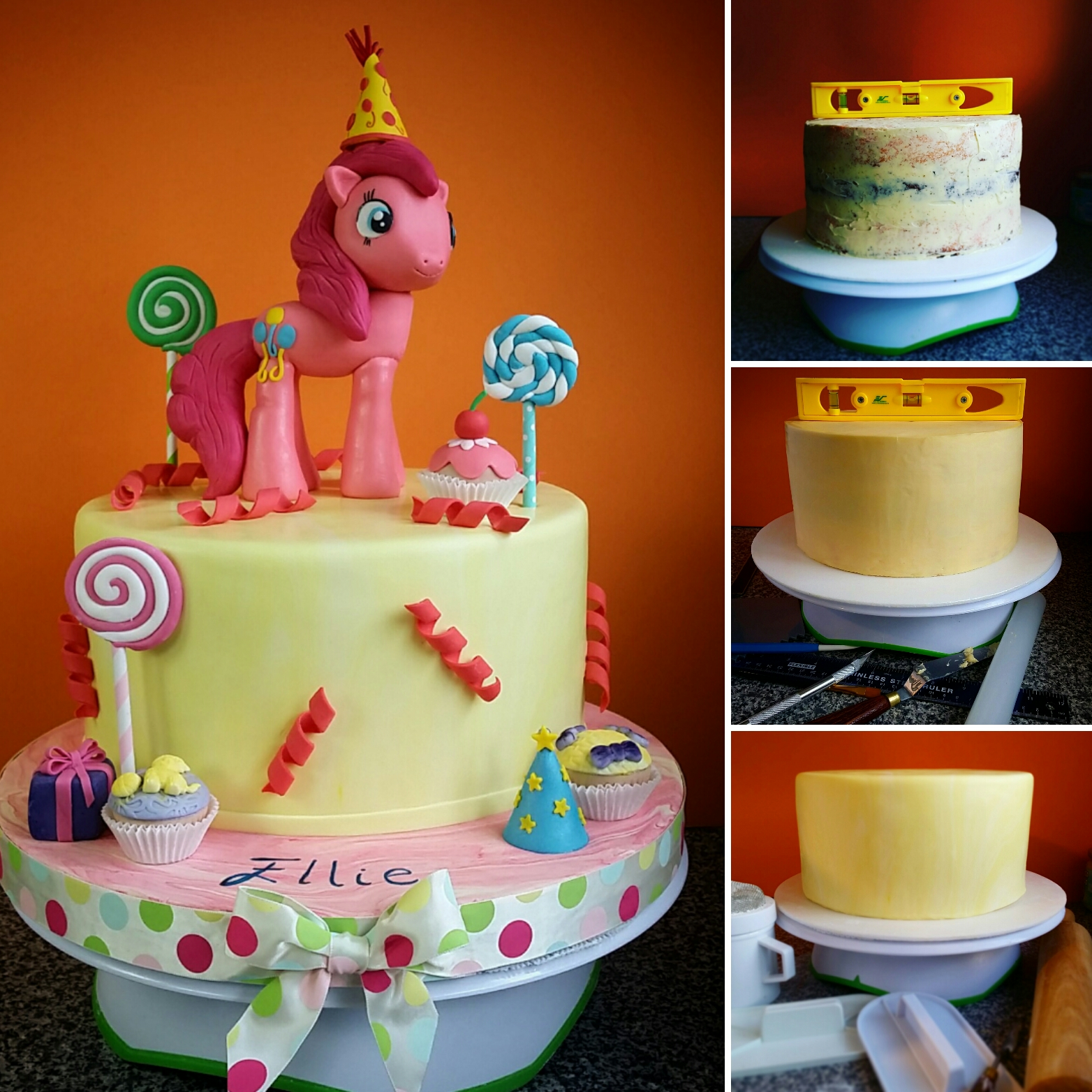 Pinkie Pie Birthday Cake By LovelyCakesByEva