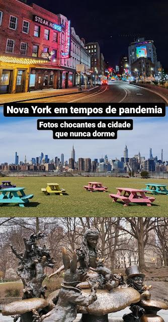 Nova York em tempos de pandemia: fotos chocantes