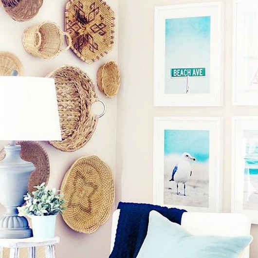 Pastel Blue And White Beach Cottage