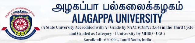 Government Jobs Vacancy in Alagappa University