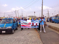 Ibrahim Lawal leading Walk4Change, Osun