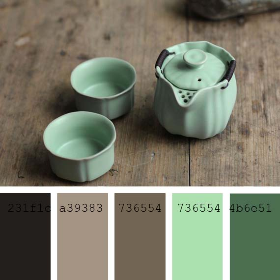 pantone color of the day #CeladonGreen chinese porcelain