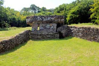 neolithic burial chamber, north view, tinkinswood, vale of glamorgan