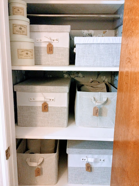 How to organize your closet and make it over with wallpaper