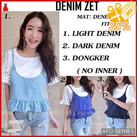 AFO569 Model Fashion Denim Zet no inner Modis Murah BMGShop