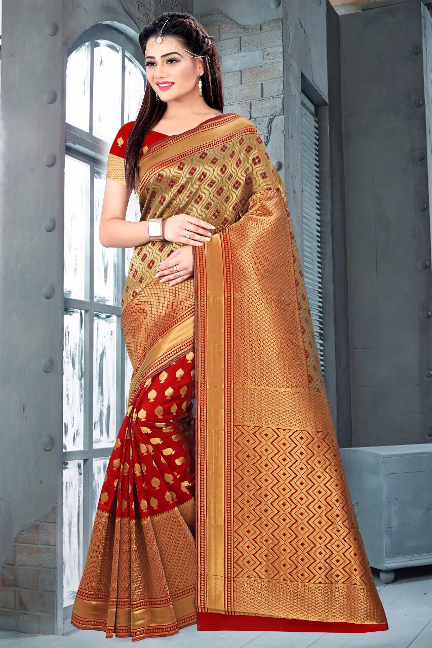 PREM – Latest New Arrival Designer Banarasi Silk Saree