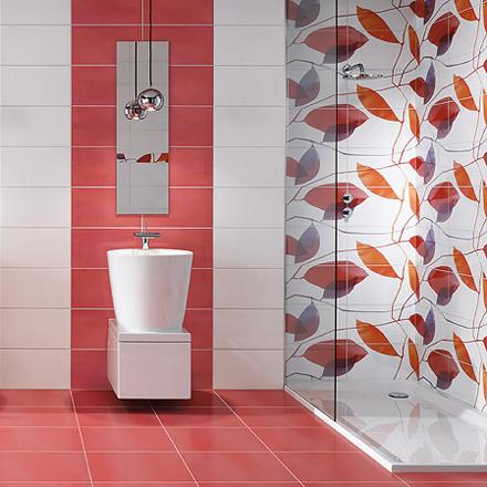 9 cuartos de ba o naranja ideas para decorar dise ar y mejorar tu casa. Black Bedroom Furniture Sets. Home Design Ideas