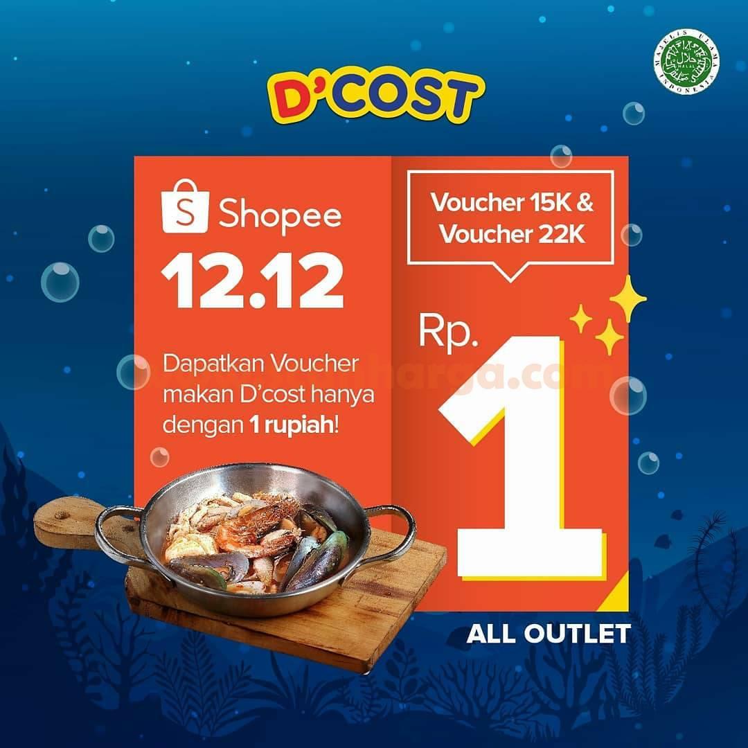 DCOST Promo Shopee 12.12. Birthday Sale – Beli Voucher Diskon ShopeePay cuma Rp. 1