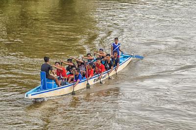 venue dayung yang ada di Sungai Silugonggo Juwana Pati