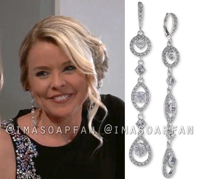 Felicia Scorpio, Kristina Wagner, Crystal Linear Drop Earrings, General Hospital, GH