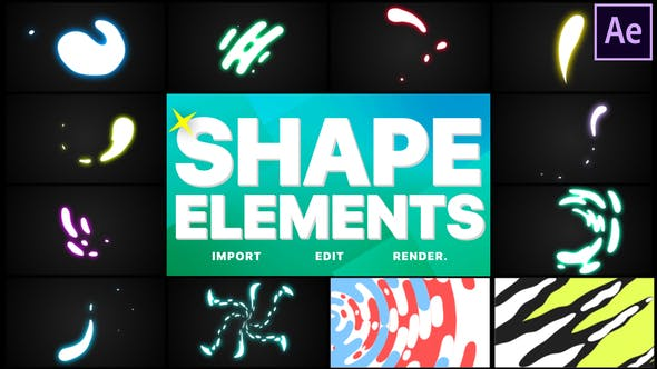 Videohive - Shapes Elements Pack  After Effects free download