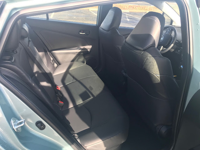 Rear seat in 2020 Toyota Prius Limited