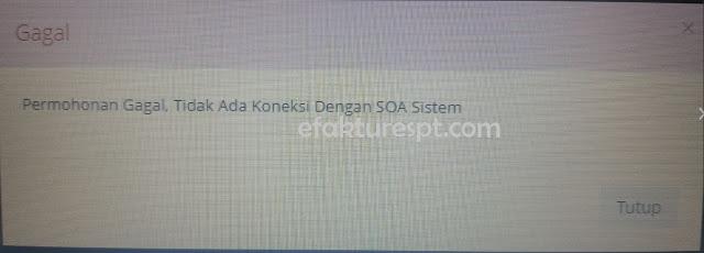 e-Registration NPWP Permohonan Gagal Tidak Ada Koneksi