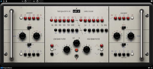 Interface do VST Lindell Audio TE-100 v1.1.1 - Plugin Alliance