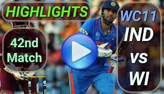 IND vs WI 42nd Match