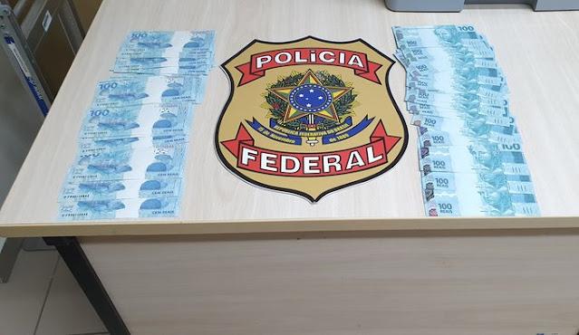 Polícia Federal prende suspeito de receber R$ 5 mil em notas falsas no interior do RN