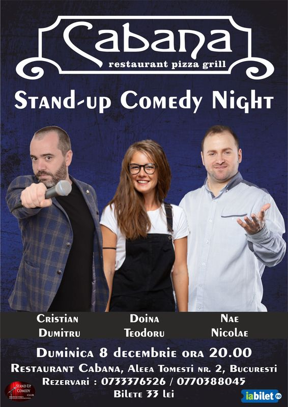 Stand-Up Comedy Duminica 8 Decembrie in Bucuresti