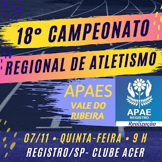 Apaes do Vale participam de Campeonato Regional de Atletismo