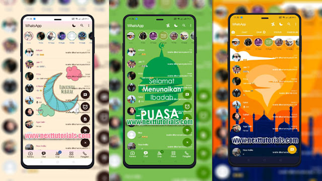 Kumpulan Tema Fouad WhatsApp & FM WhatsApp v8.86 Special Bulan Suci Ramadhan 2021,download tema wa mod keren terbaru 2021,wa aero anti banned,