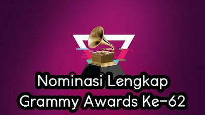 Nominasi Lengkap Grammy Awards Ke-62.jpg