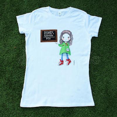 Camiseta maestra personalizada