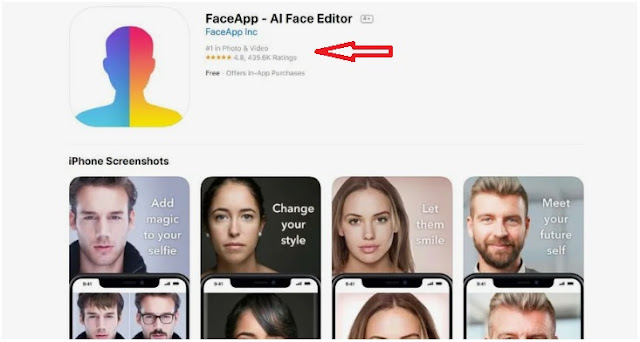 FaceApp, AI Photo Editing App become the #1 in app stores worldwide
