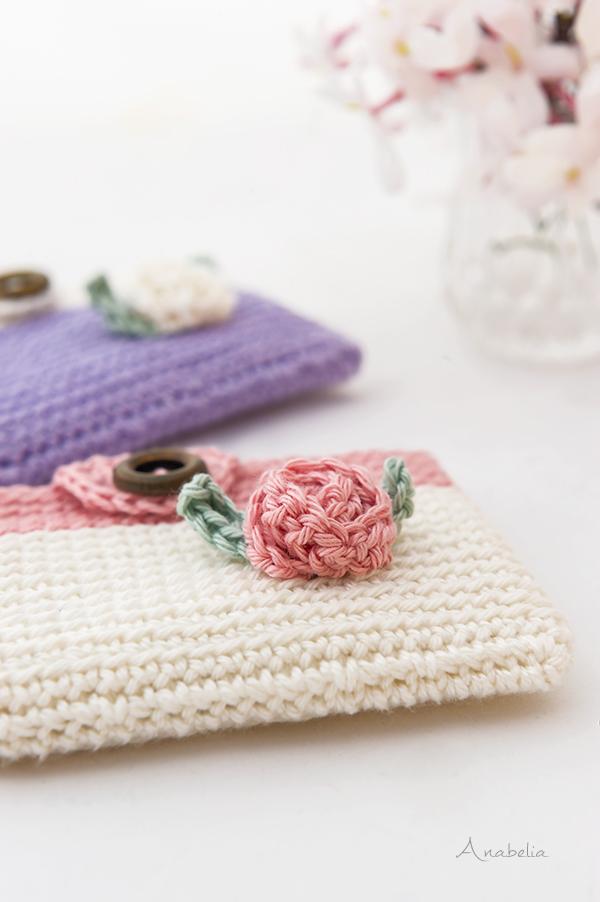 Crochet Mini pouches, Anabelia Craft Design