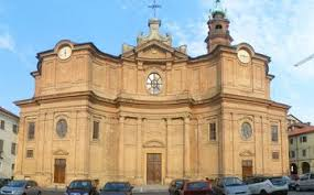 Carignano's 18th-century Baroque cathedral built by Benedetto Alfieri