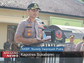 Kapolres Sukabumi AKBP Nuredy Irwansyah Putra