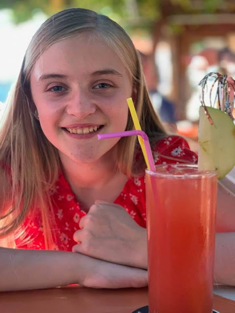 teen with mocktail  in Cyprus