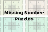 Missing number puzzles with answers