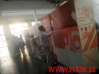 graffiti team building sobre cajas