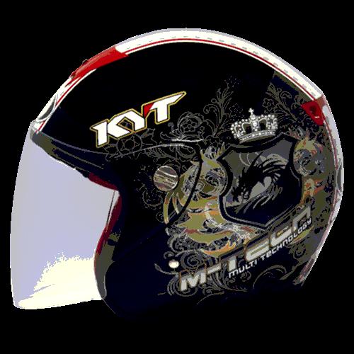 helm kyt M-Tech Dragon - Black / Gold / White (O.F)