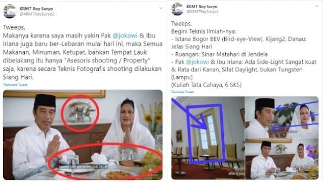 Sindir Soal Ketupat dan Panci dalam Video Jokowi, Roy Suryo Kena Semprot