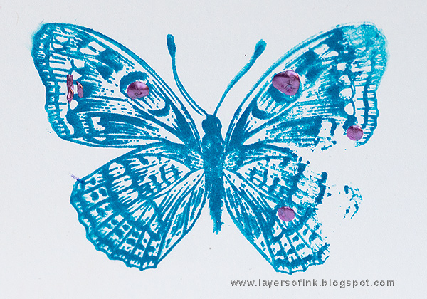 Layers of ink - Sparkly Butterflies Cards
