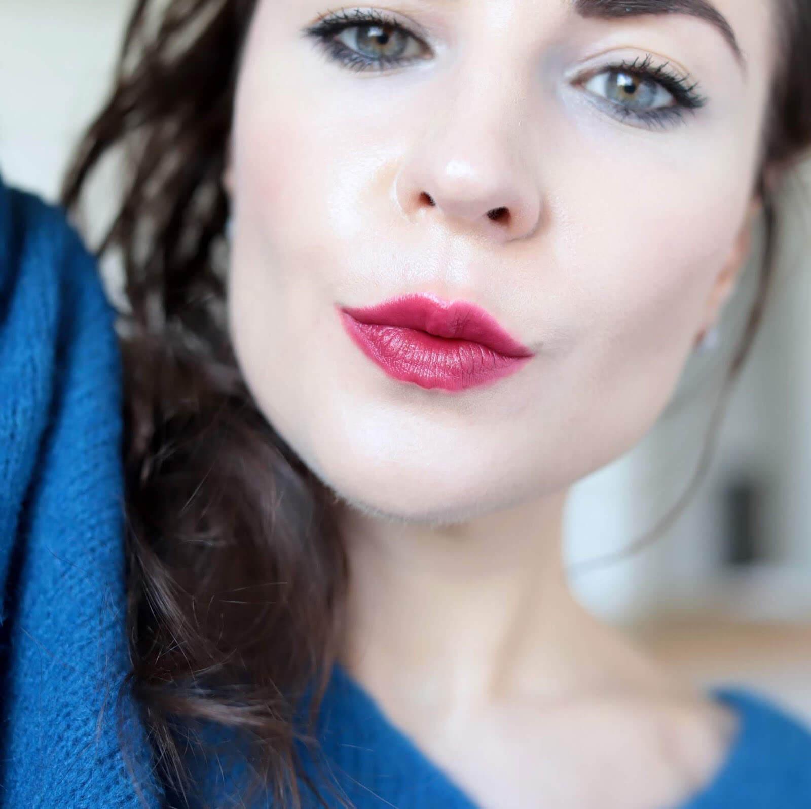 Kosas Weightless Lip Color Darkroom test
