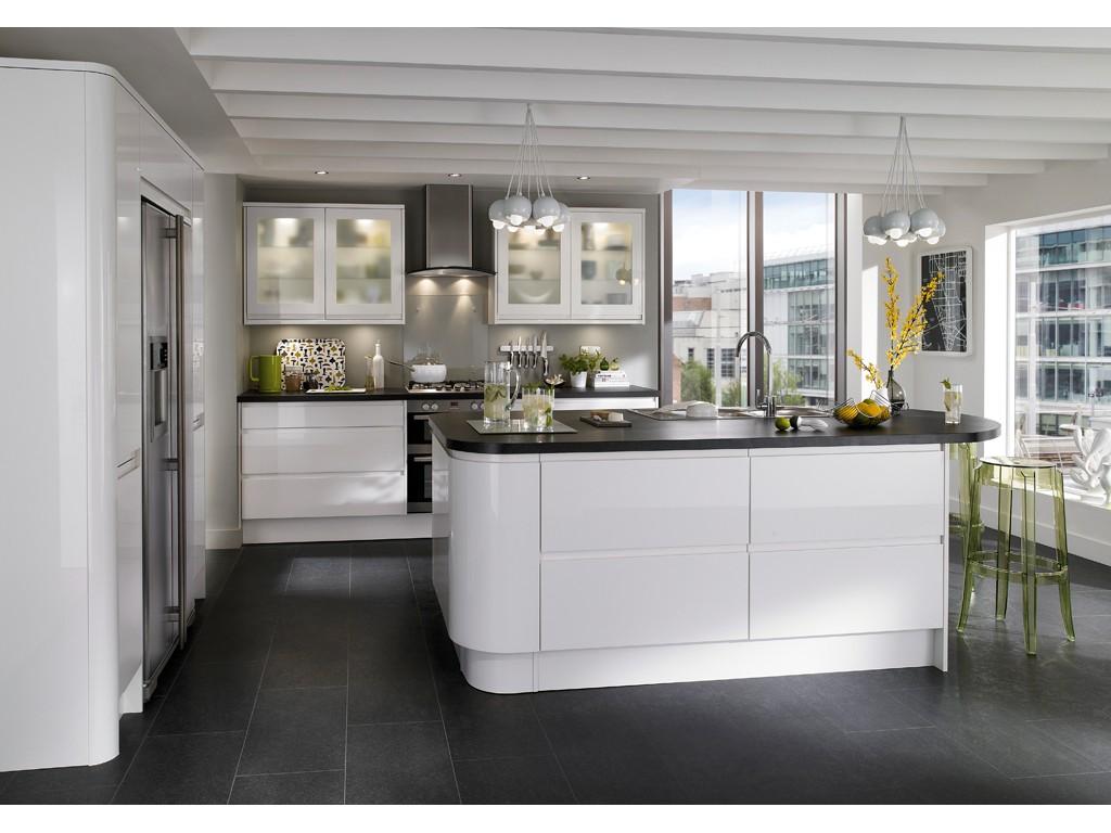 cuisine blanche sans poign es. Black Bedroom Furniture Sets. Home Design Ideas