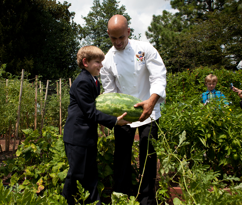 White House Garden With Executive Chef
