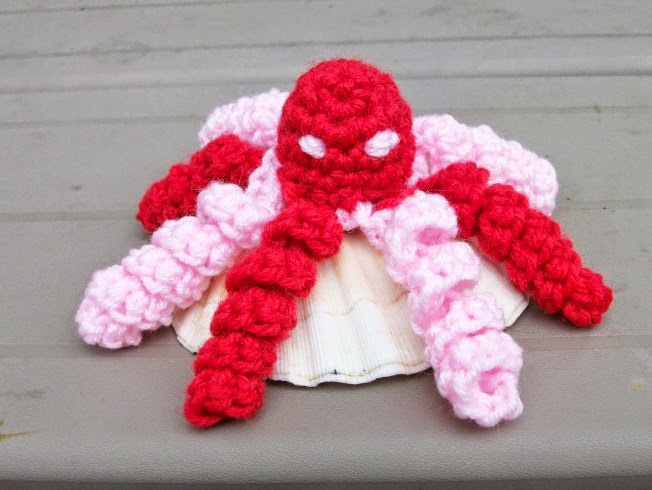 Valentine Octopus in Plush