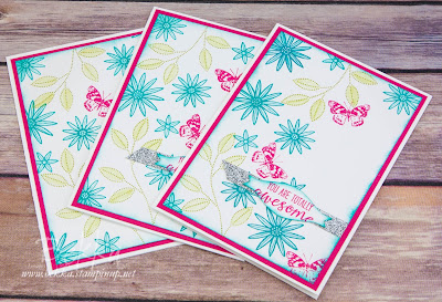 Bright and Cheerful Grateful Bunch Team Recognition Cards - get the supplies you need to make these cards here