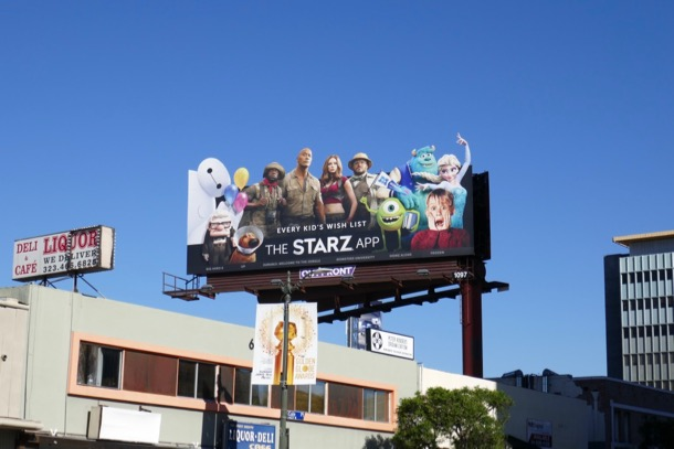 Starz App Kids Wish List billboard