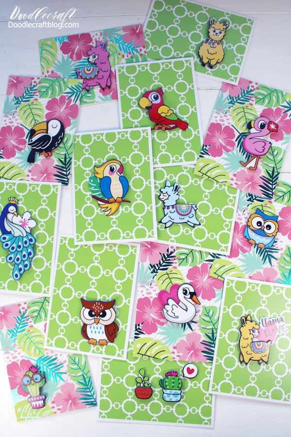 Now there's a pile of special cards for every occasion during the year. Add sentiments with a marker if desired, maybe the perfect Happy Birthday!